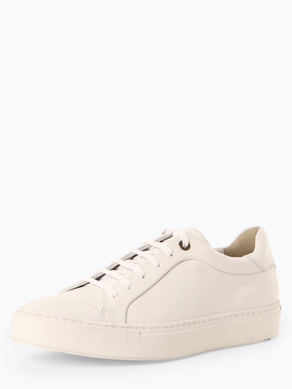 Lloyd – Męskie tenisówki ze skóry, biały Van Graaf 449207-0001