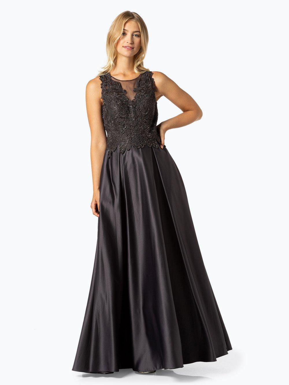 VM – Damska sukienka wieczorowa, szary Van Graaf 449216-0001-00360