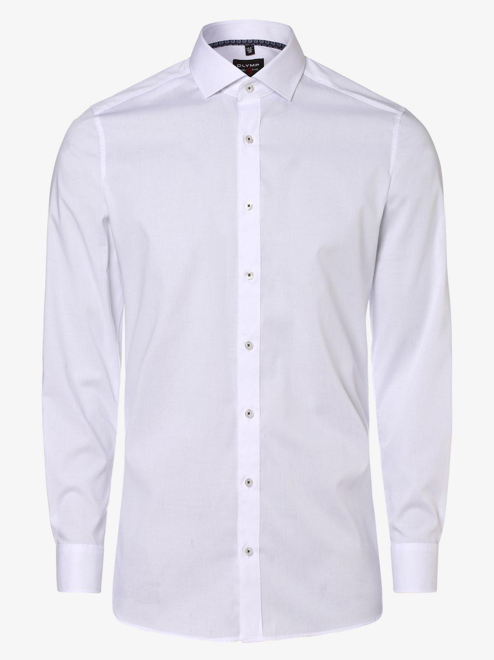 Olymp Level Five – Koszula męska łatwa w prasowaniu, biały Van Graaf 449265-0002-00430