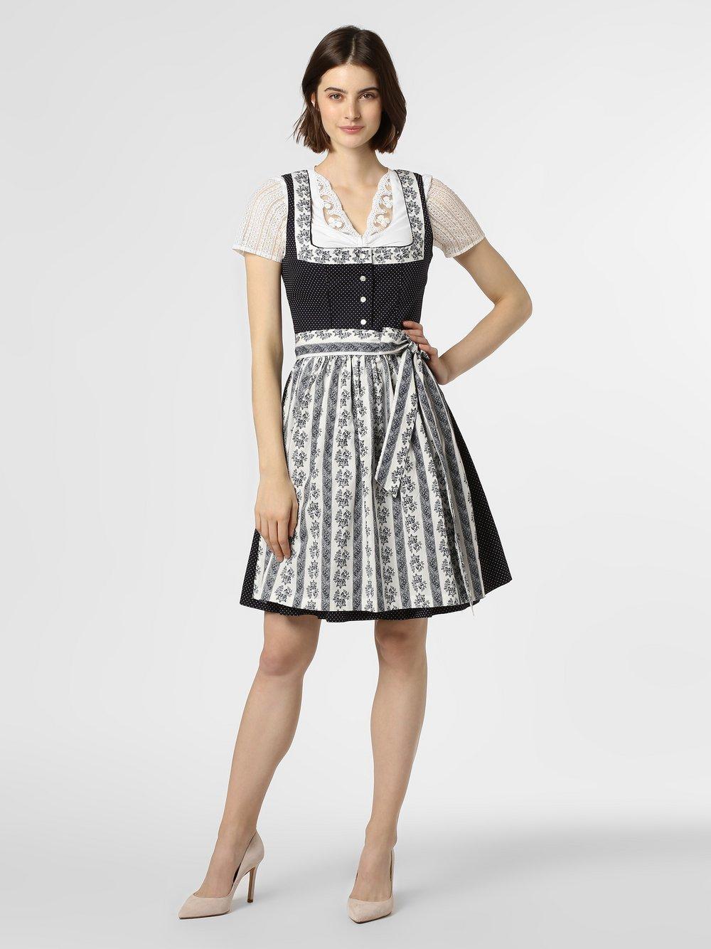 Alpenfeeling – Ludowa sukienka damska, niebieski Van Graaf 449305-0001-00440