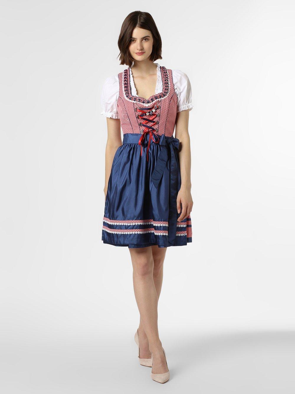 Alpenfeeling – Ludowa sukienka damska, niebieski Van Graaf 449306-0001-00400