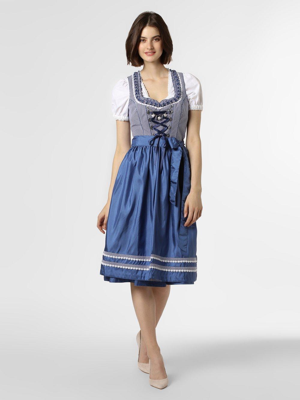 Alpenfeeling – Ludowa sukienka damska, niebieski Van Graaf 449319-0001-00360