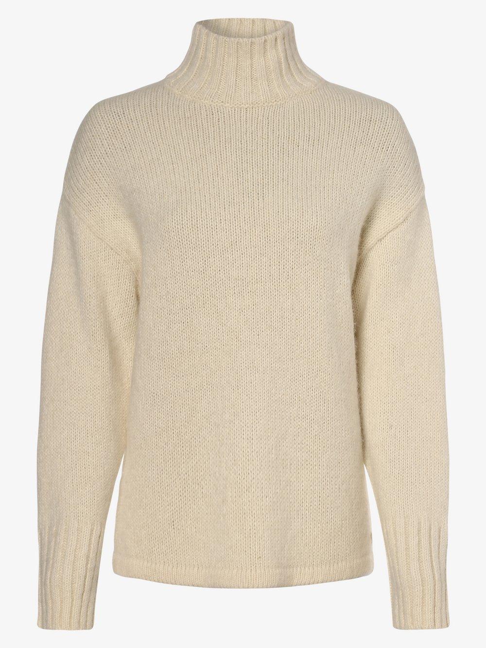 März – Sweter damski z dodatkiem alpaki, biały Van Graaf 449331-0001