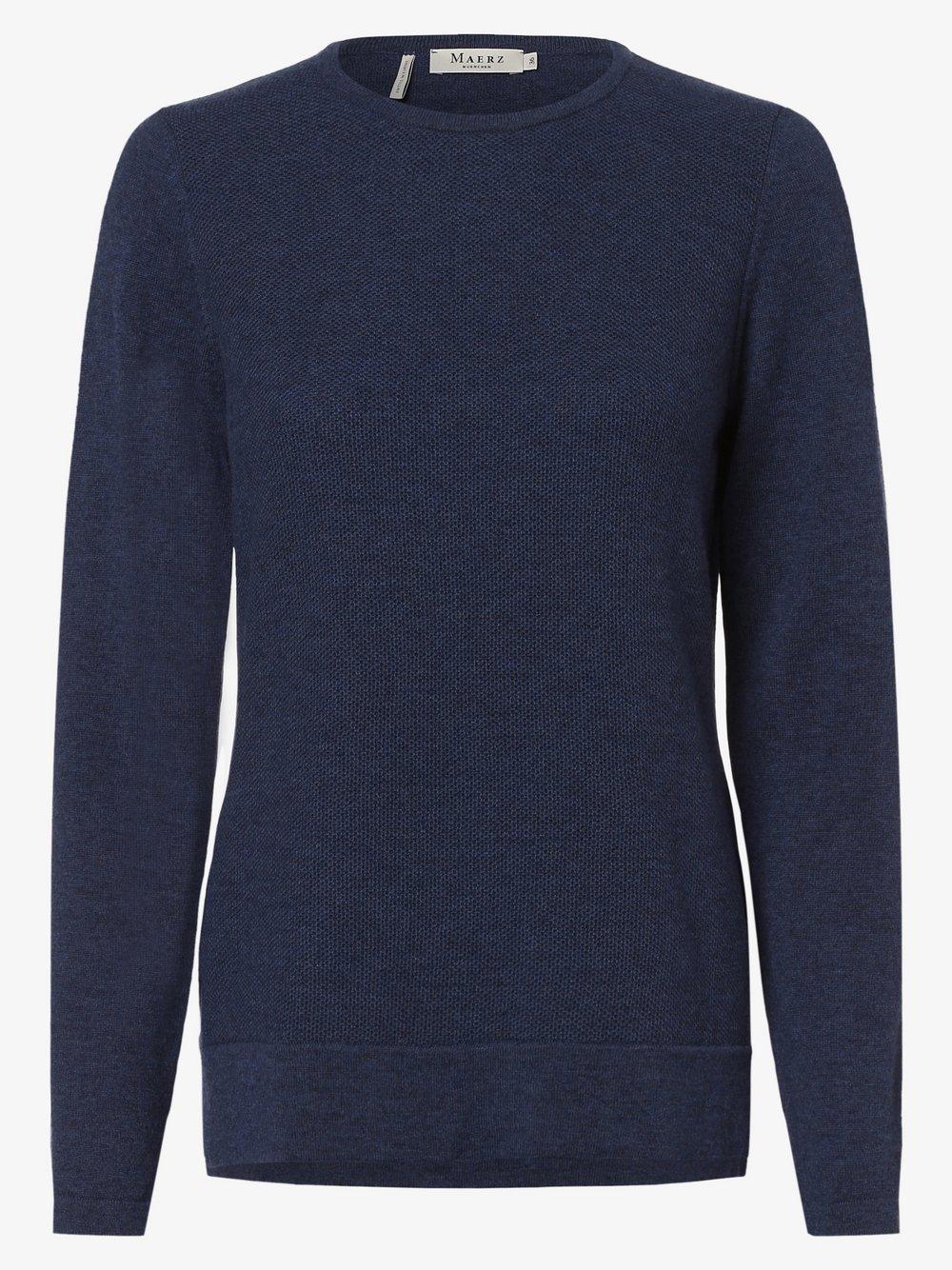 März – Sweter damski, niebieski Van Graaf 449349-0003-00380