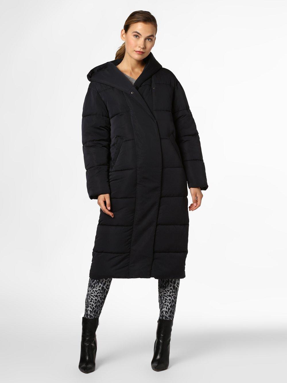 Review - Damski płaszcz pikowany, czarny