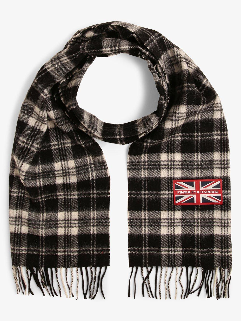Finshley & Harding London – Szalik męski, czarny Van Graaf 449539-0001-00000