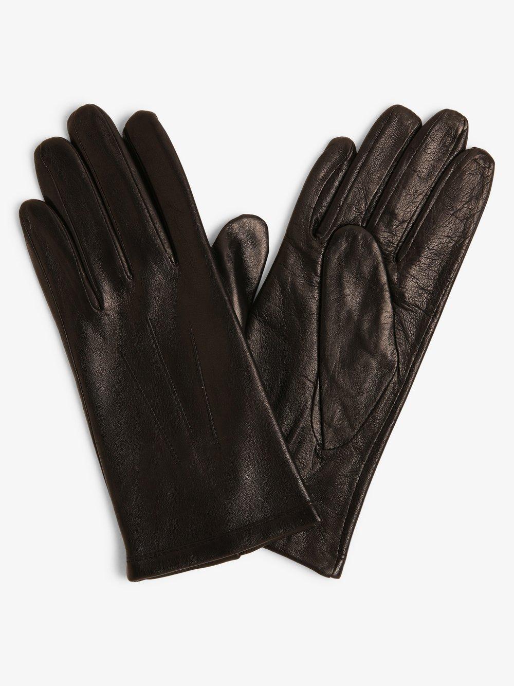 Melkonian – Skórzane rękawiczki damskie, czarny Van Graaf 449642-0001-09940