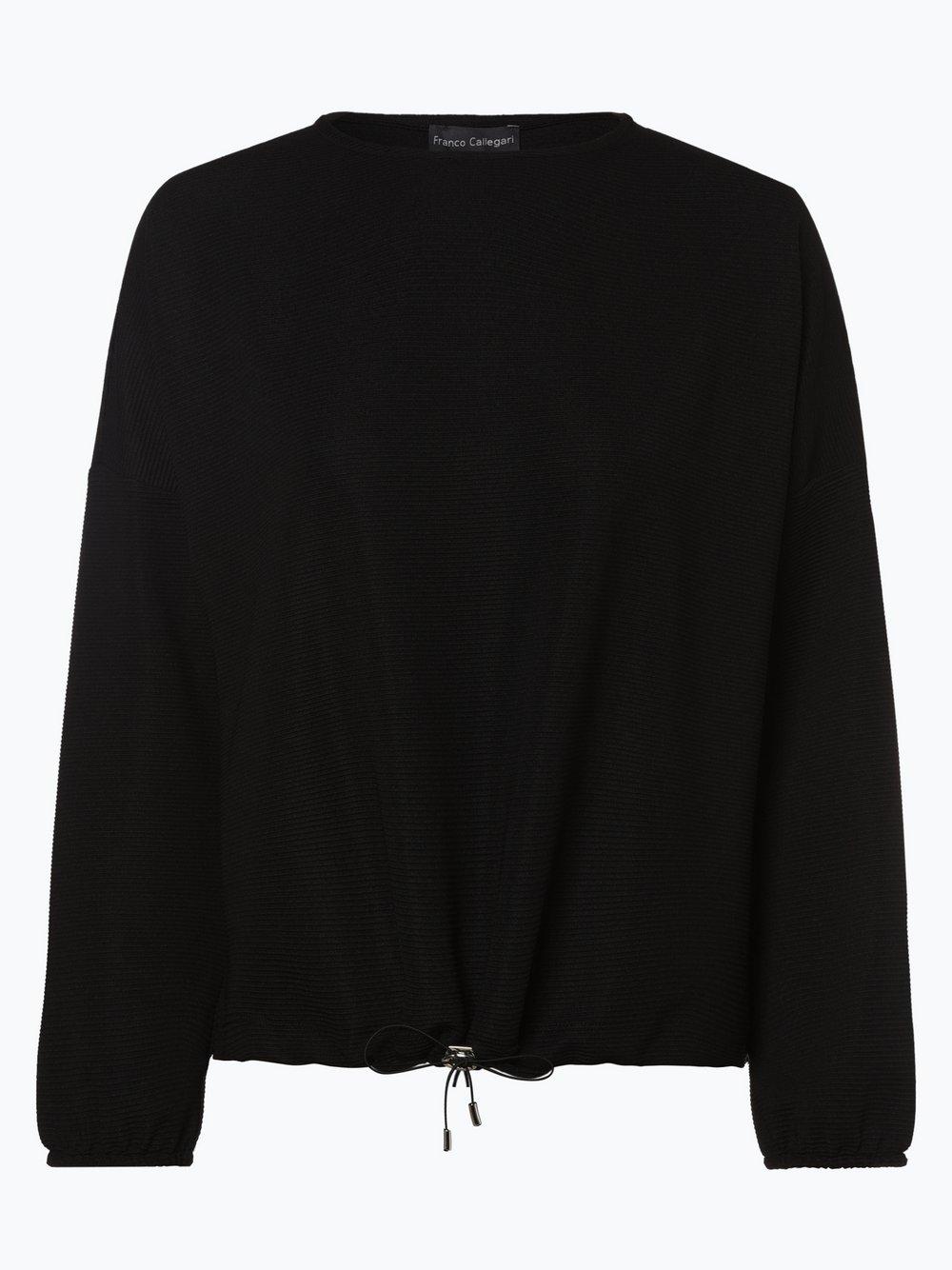 Franco Callegari - Damska bluza nierozpinana, czarny