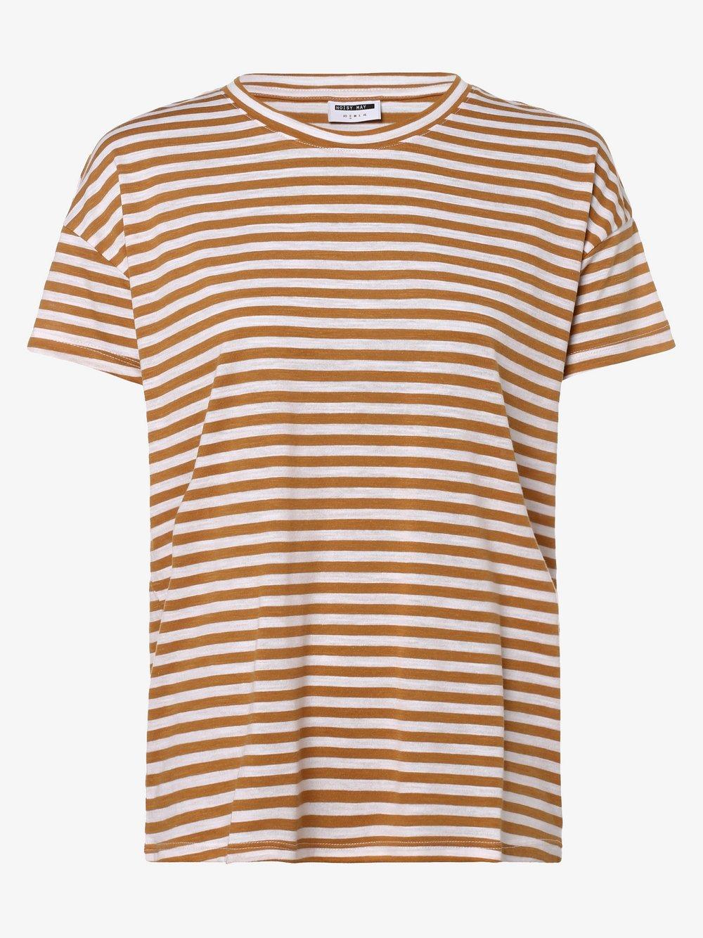 Noisy May - T-shirt damski, brązowy Noisy May