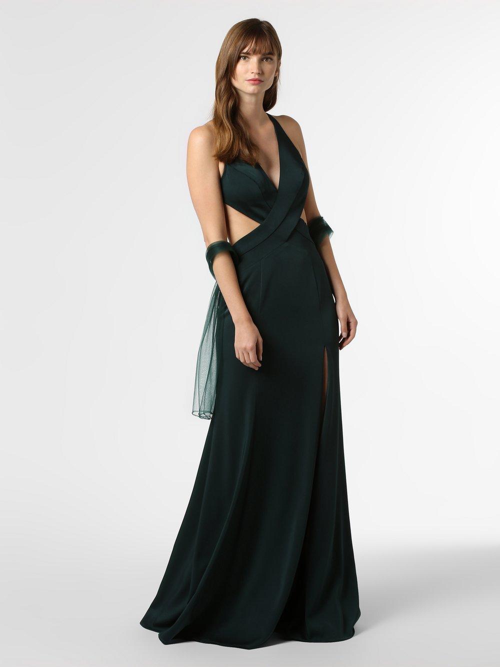Mascara - Damska sukienka wieczorowa z etolą, zielony