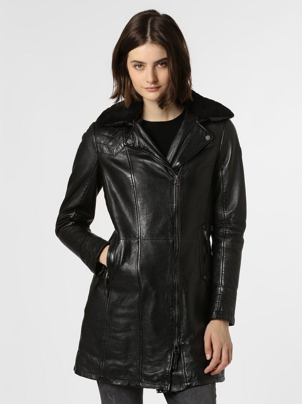 Gipsy – Damska kurtka skórzana – Cassia, czarny Van Graaf 450559-0001-09900