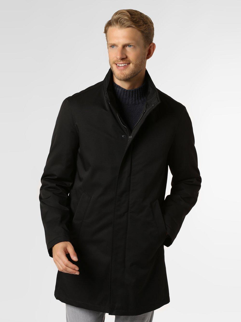 Bugatti - Płaszcz męski, czarny