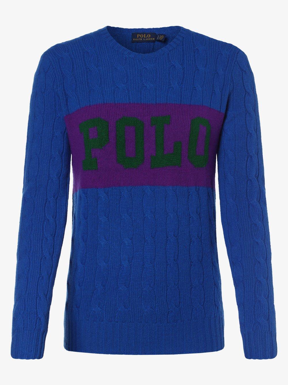 Polo Ralph Lauren - Sweter damski z dodatkiem kaszmiru, niebieski