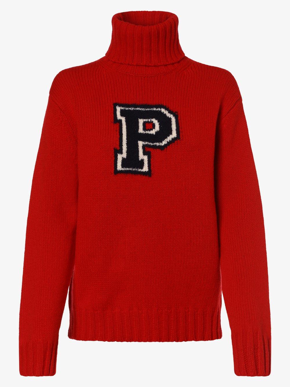 Polo Ralph Lauren - Sweter damski z dodatkiem kaszmiru, czerwony