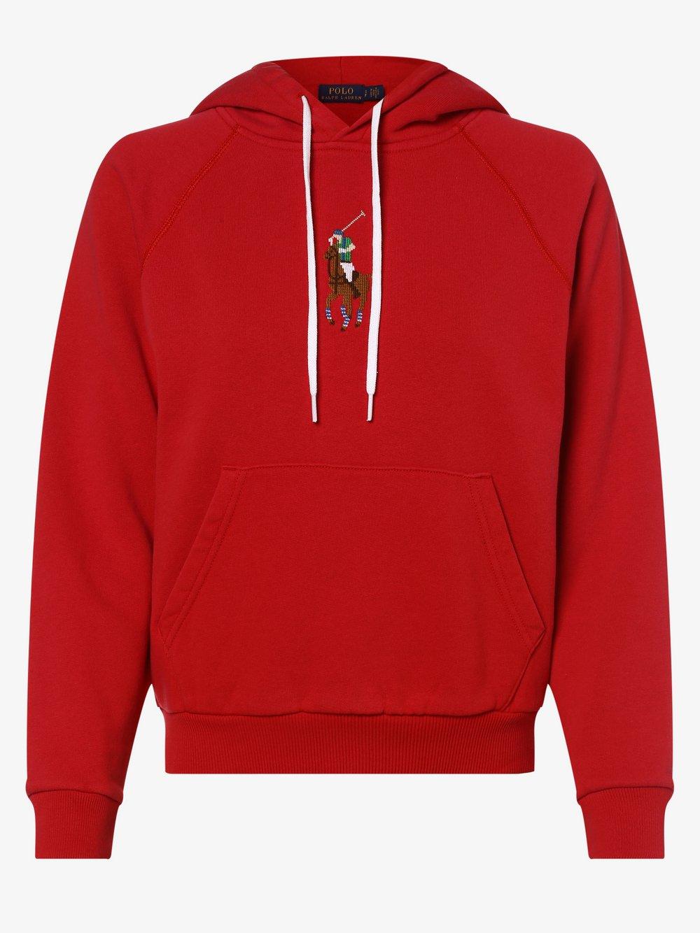 Polo Ralph Lauren - Damska bluza nierozpinana, czerwony