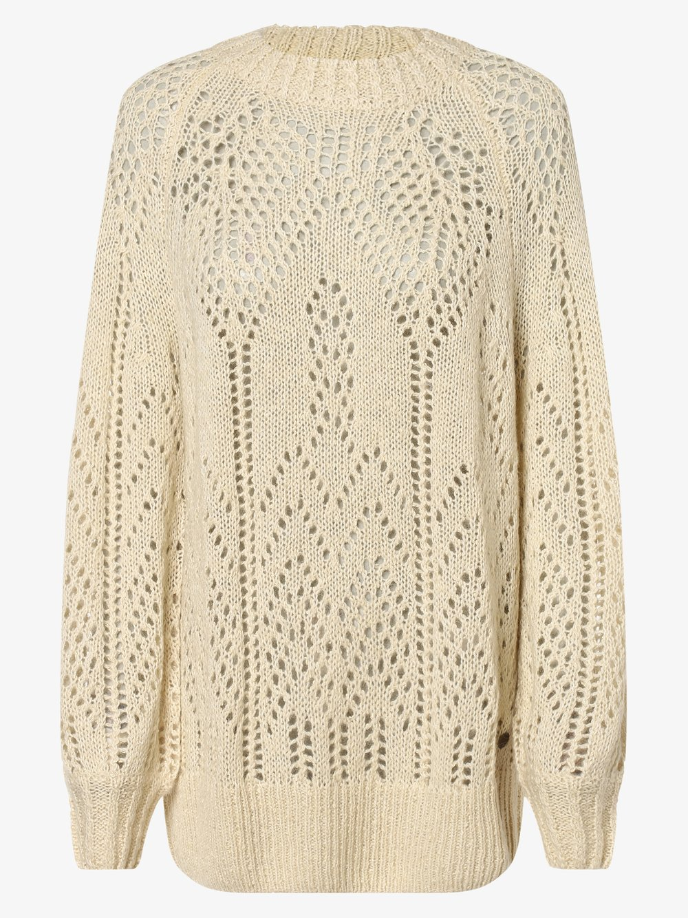 Pepe Jeans - Sweter damski z dodatkiem alpaki – Marzella, biały