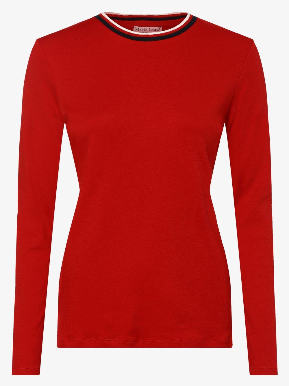 Marie Lund - Damska koszulka z długim rękawem, czerwony