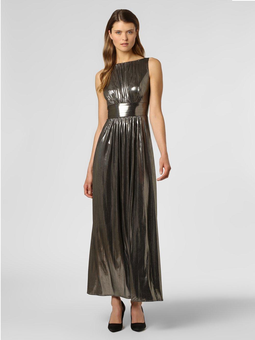 Swing - Damska sukienka wieczorowa, szary