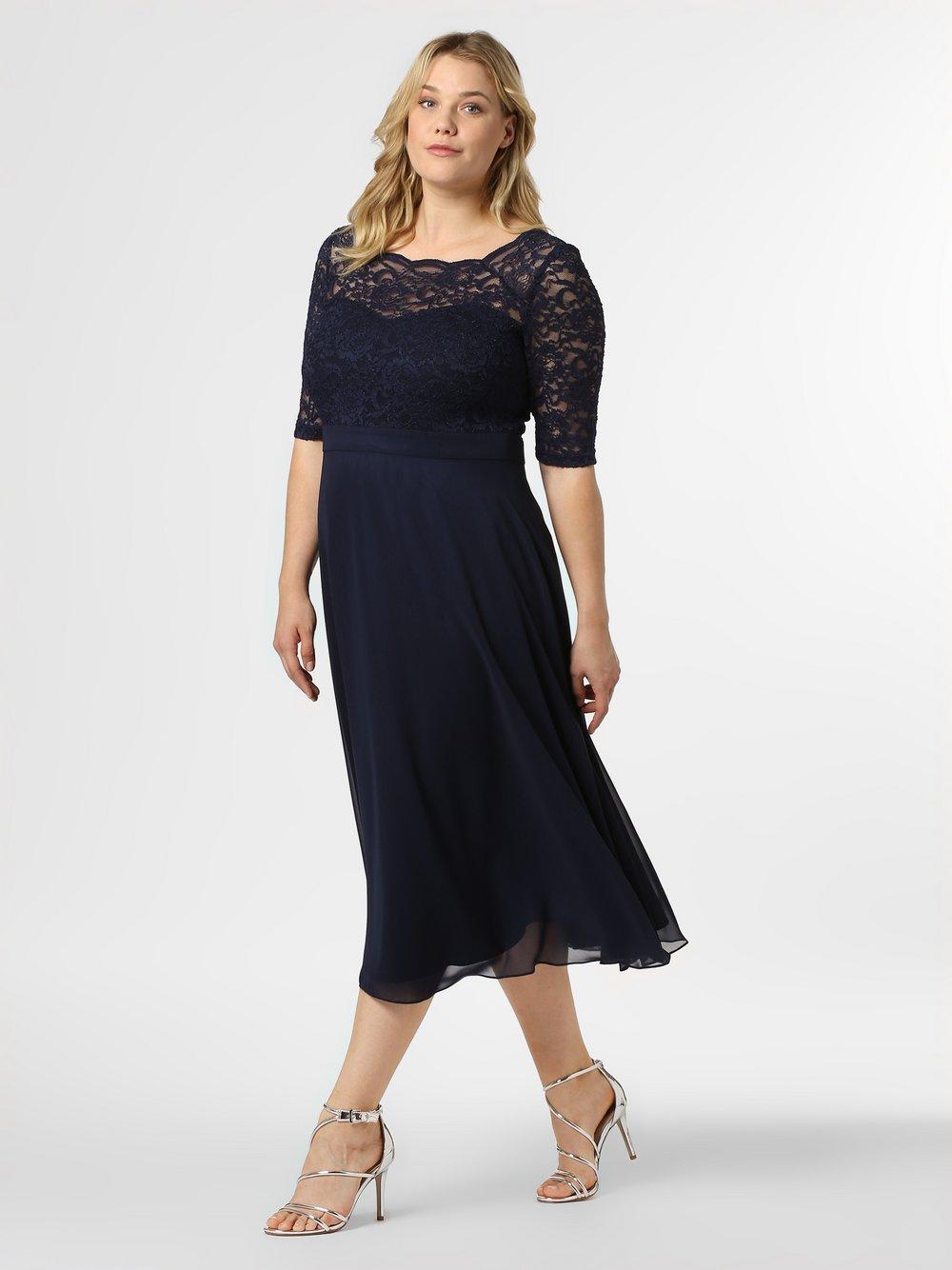Swing Curve - Damska sukienka wieczorowa, niebieski