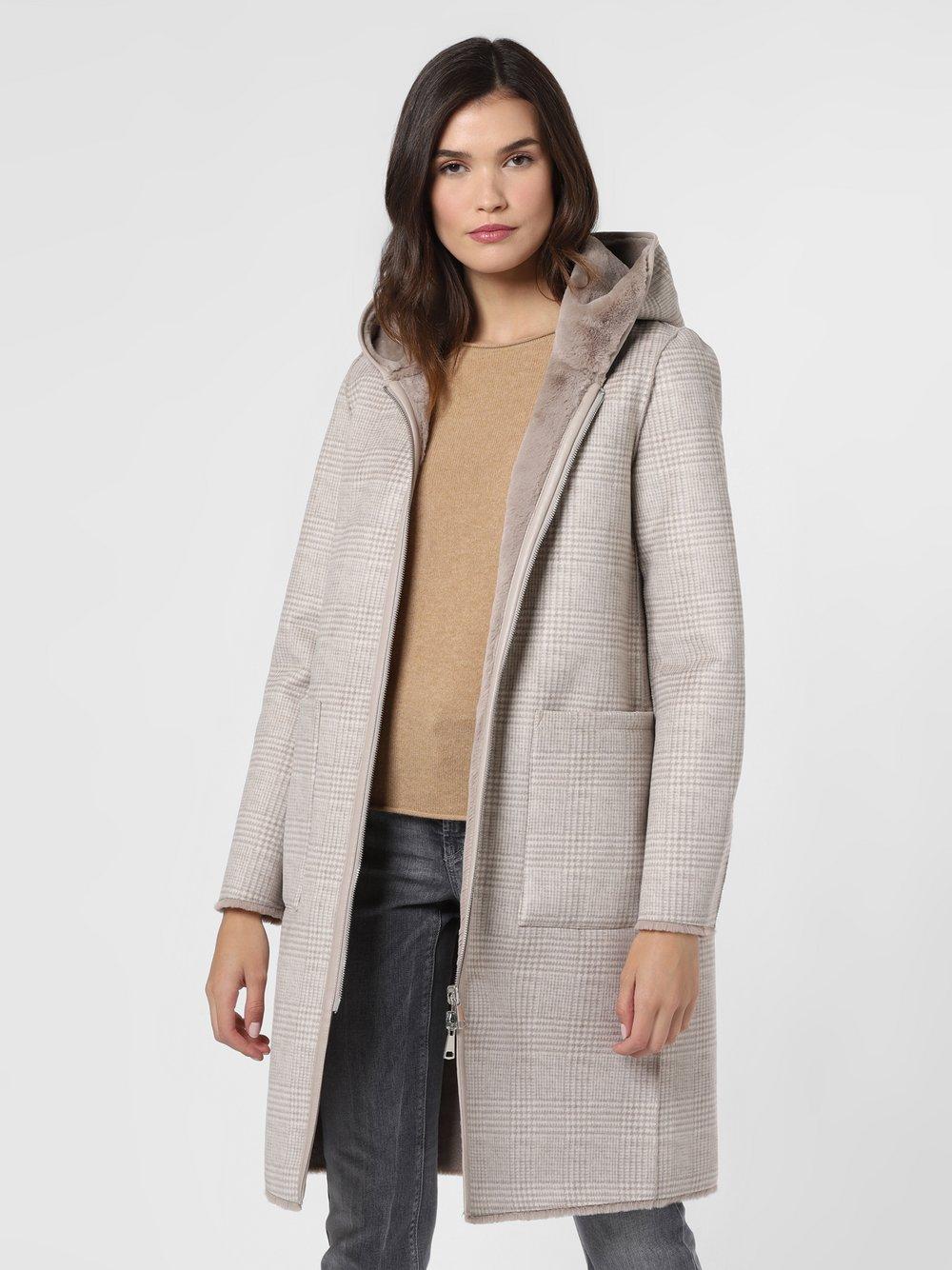 Marie Lund - Damski płaszcz dwustronny, beżowy