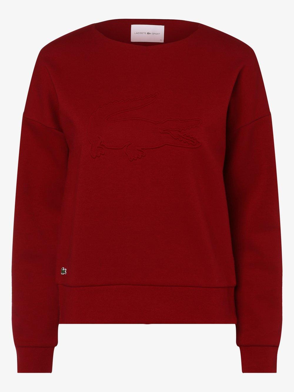 Lacoste - Damska bluza nierozpinana, czerwony