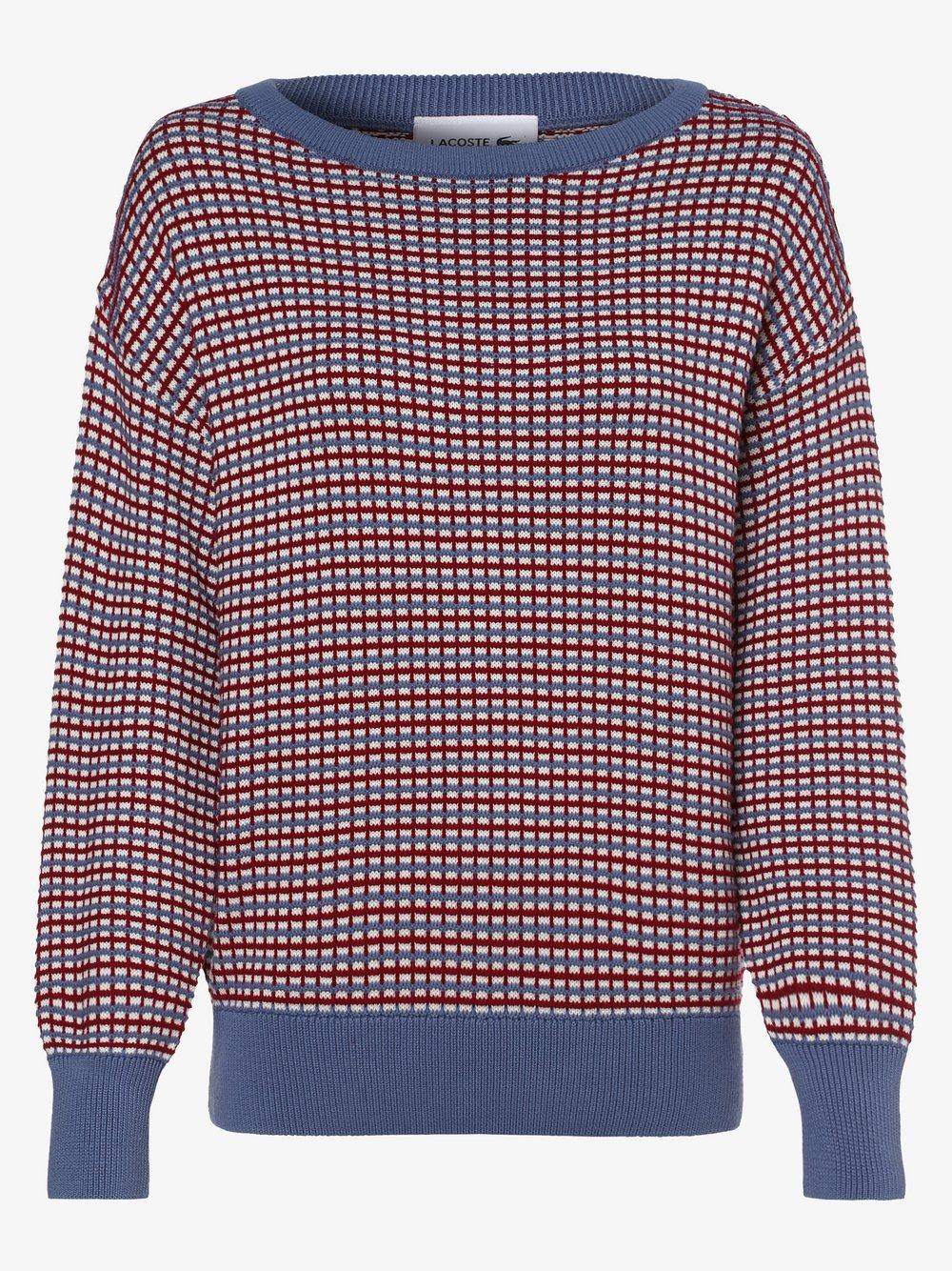 Lacoste - Sweter damski, czerwony