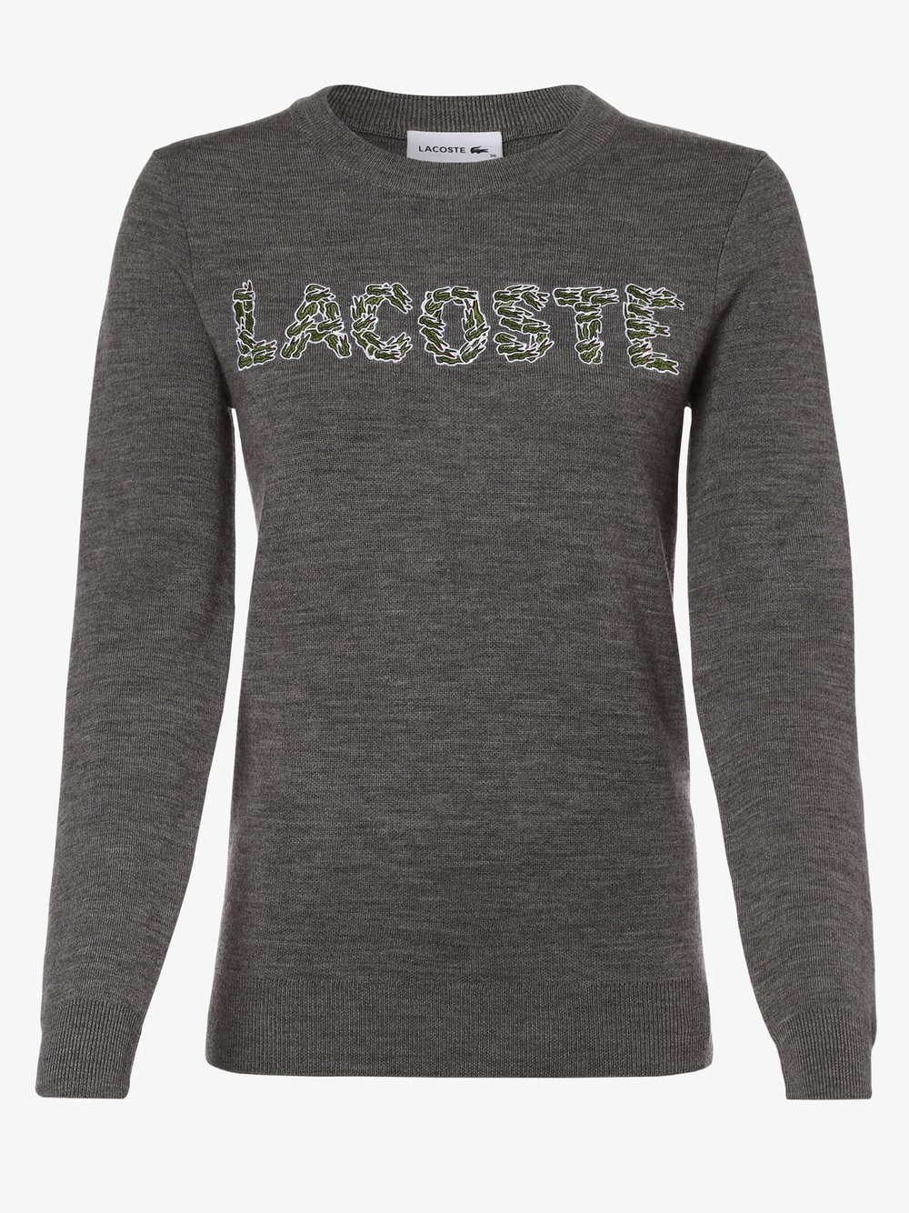 Lacoste - Sweter damski, szary