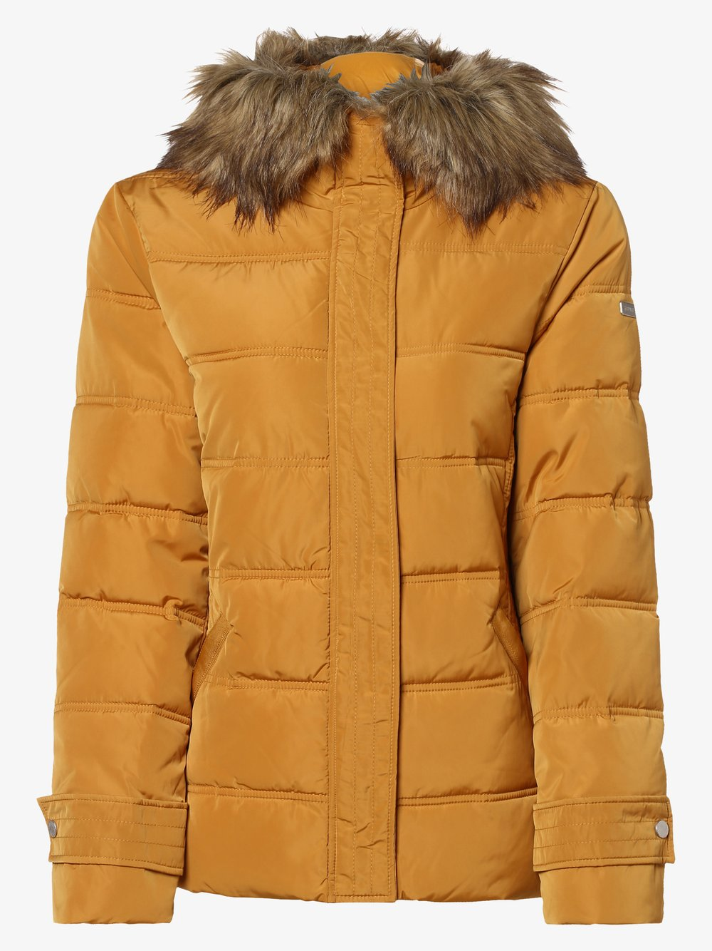 Esprit Casual - Damska kurtka pikowana, żółty