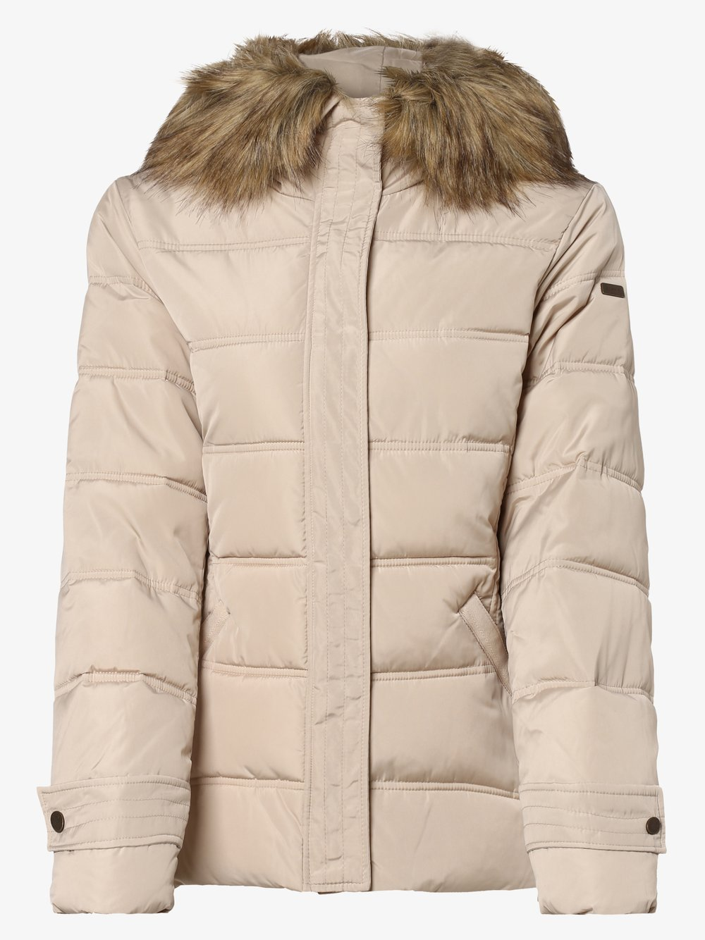Esprit Casual - Damska kurtka pikowana, beżowy