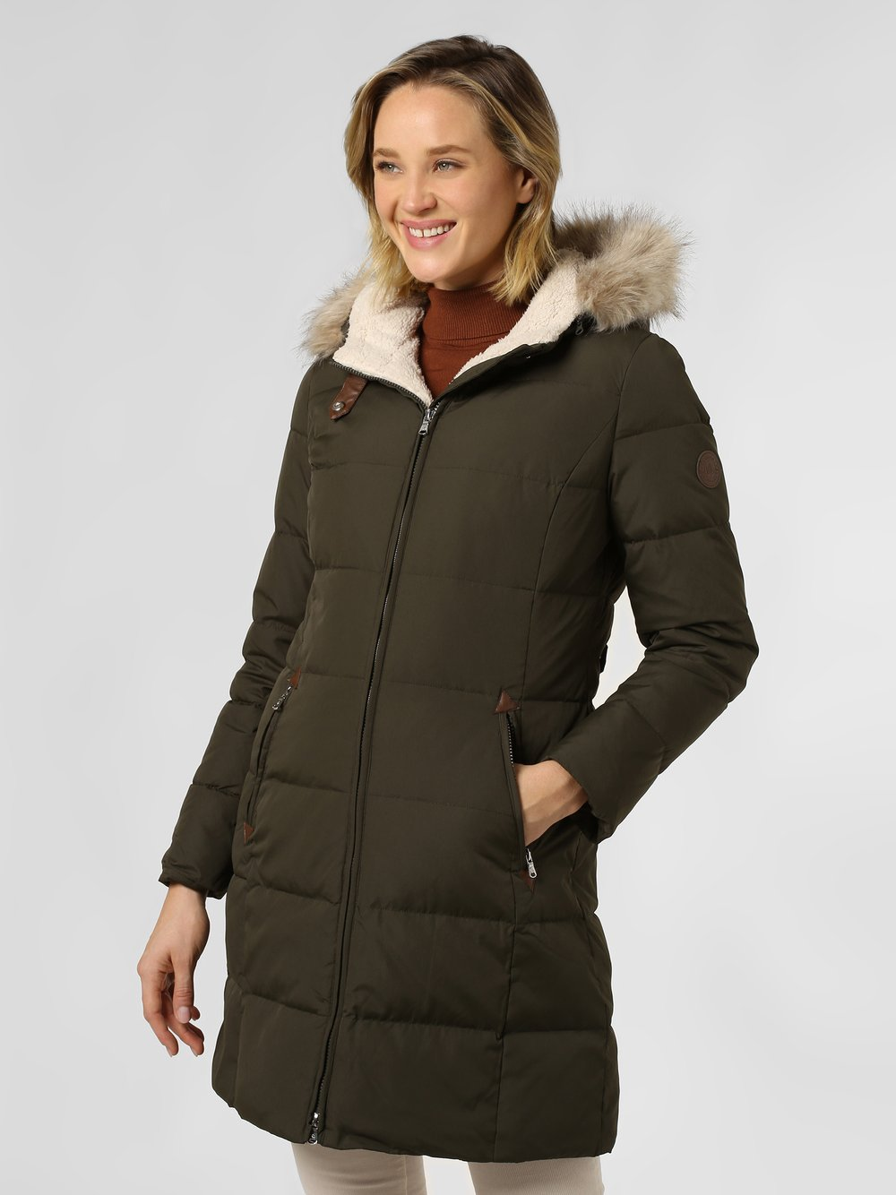 Lauren Ralph Lauren - Płaszcz puchowy damski, zielony