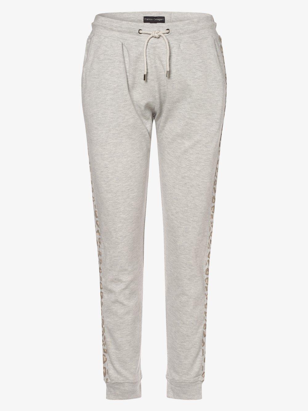 Franco Callegari - Damskie spodnie dresowe, szary