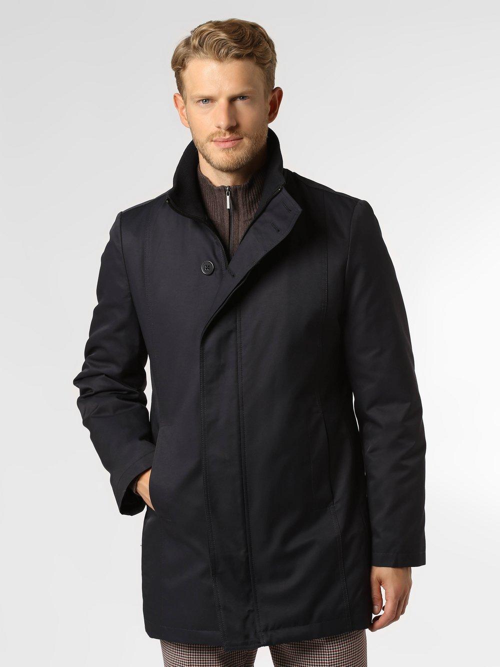 Finshley & Harding - Płaszcz męski, niebieski