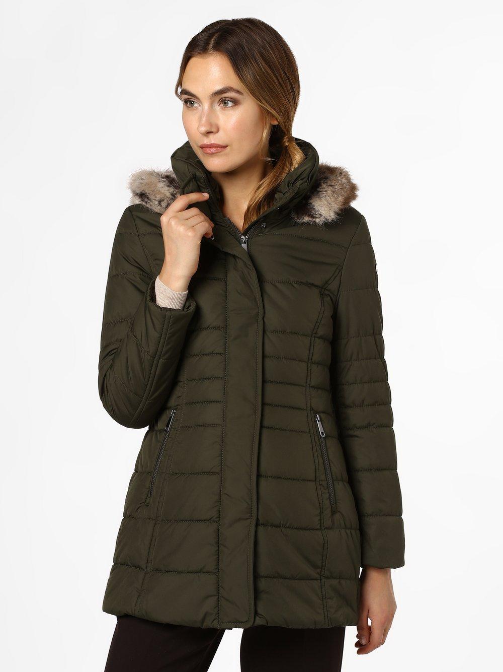 Taifun - Damski płaszcz pikowany, zielony