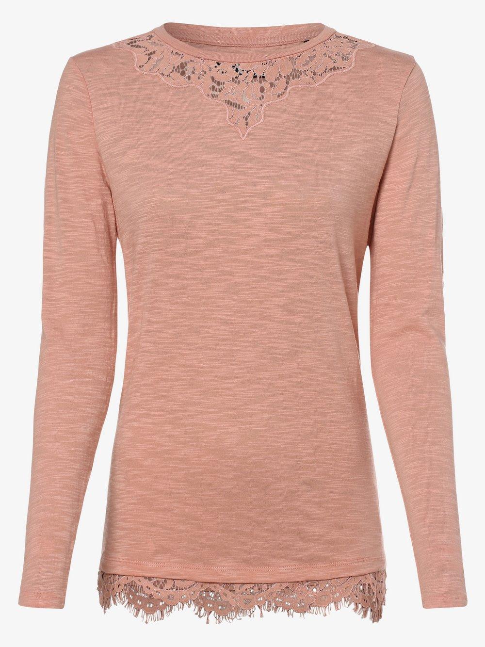 Superdry - Damska koszulka z długim rękawem, różowy
