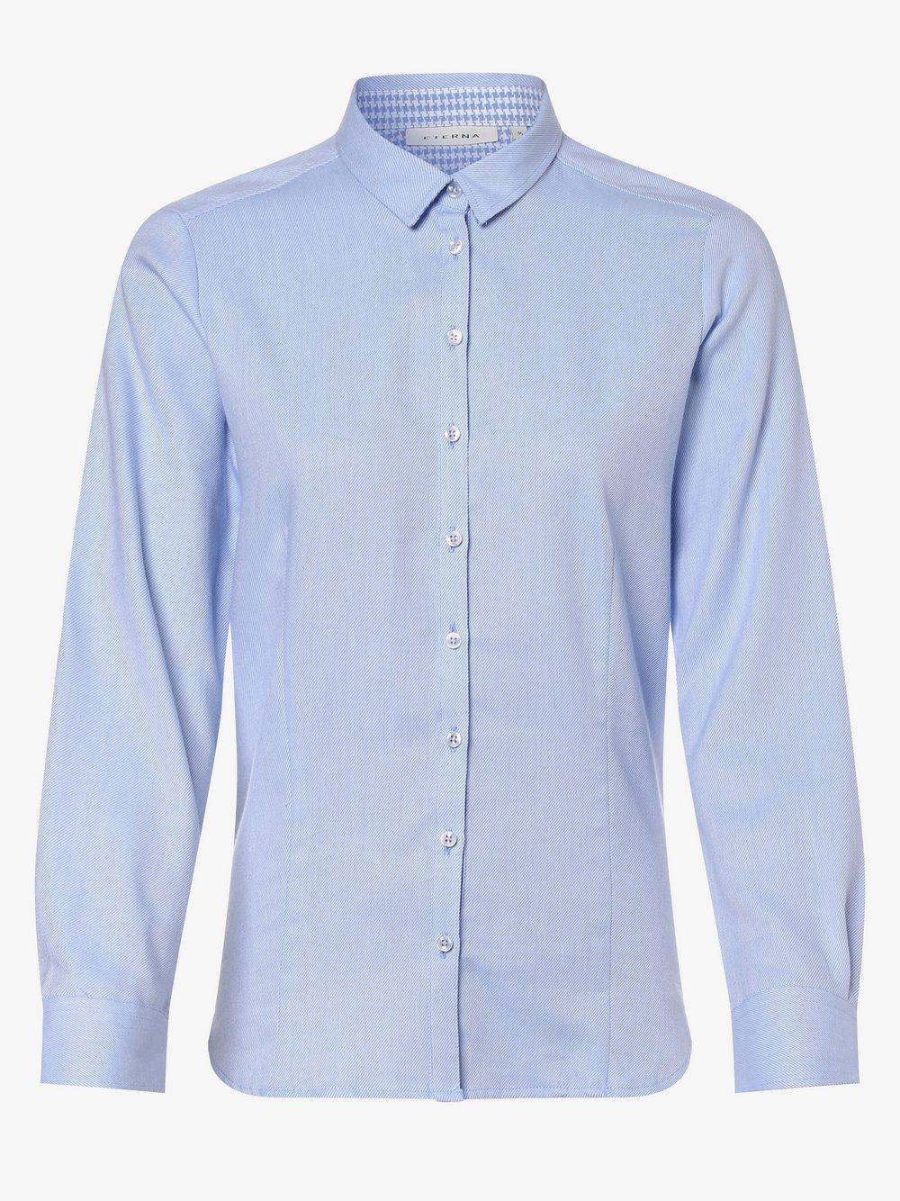Eterna Comfort Fit - Bluzka damska niewymagająca prasowania, niebieski