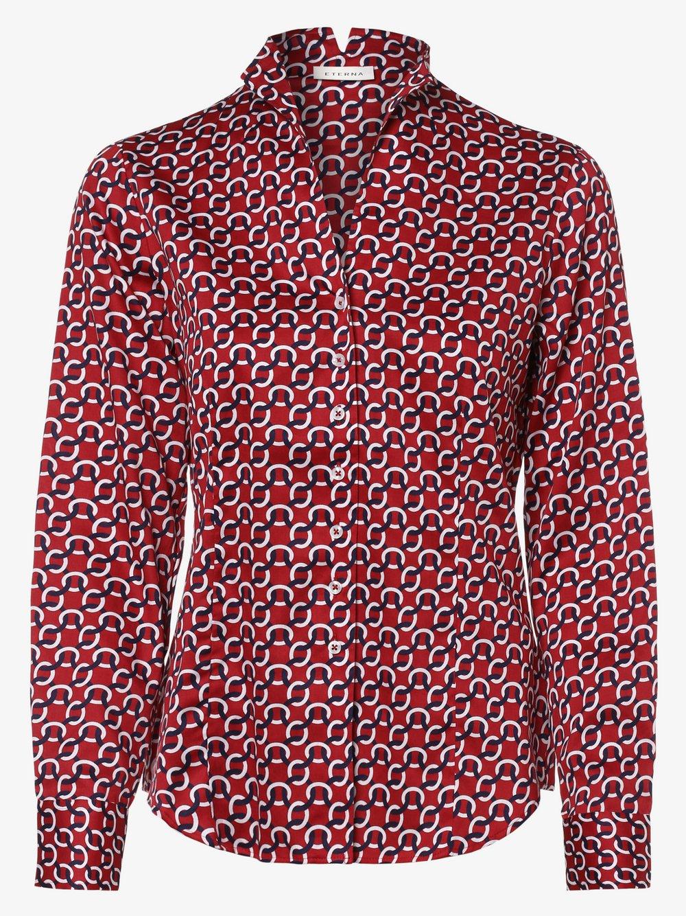 Eterna Comfort Fit - Bluzka damska, czerwony