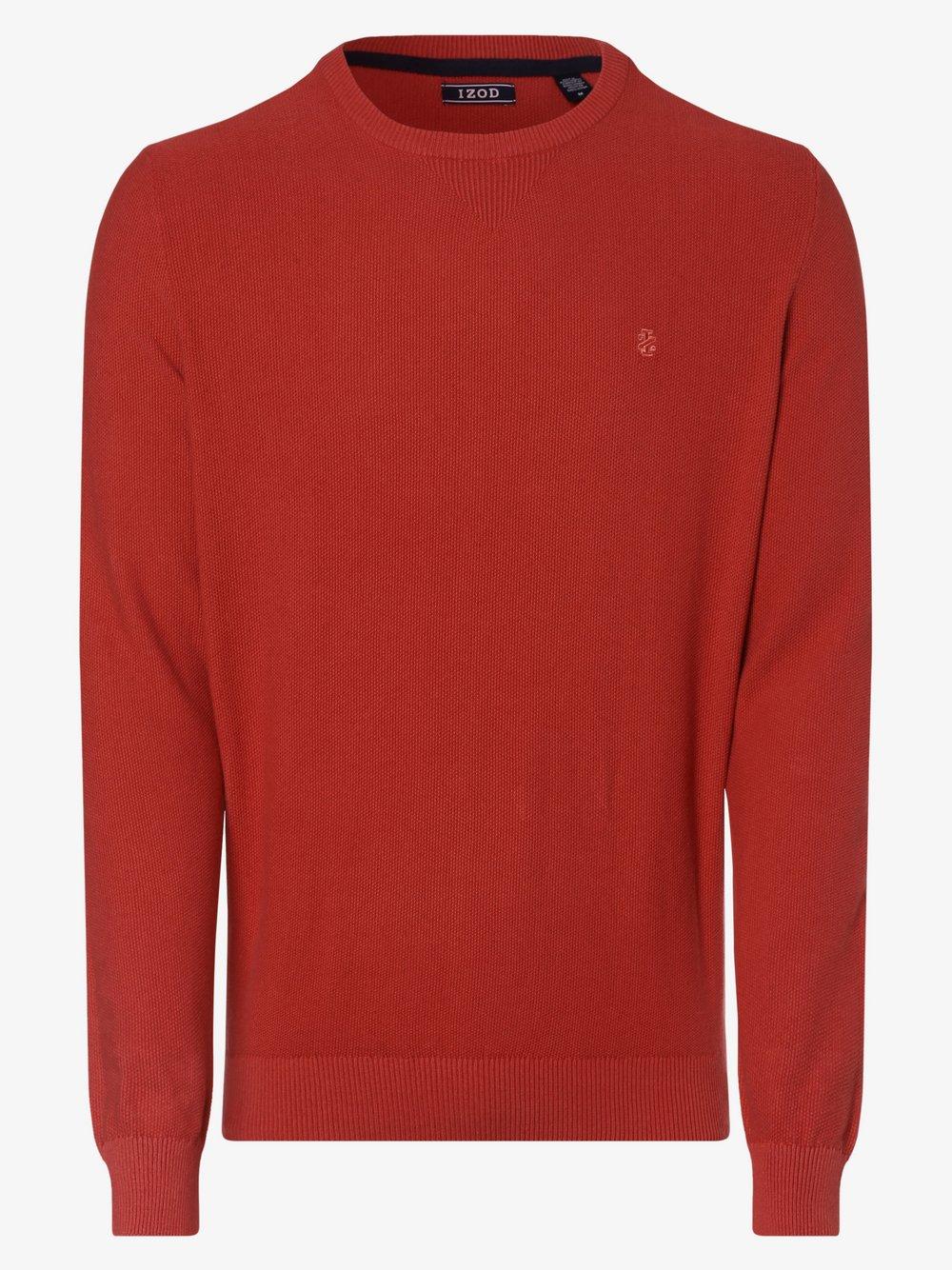 IZOD - Sweter męski, czerwony
