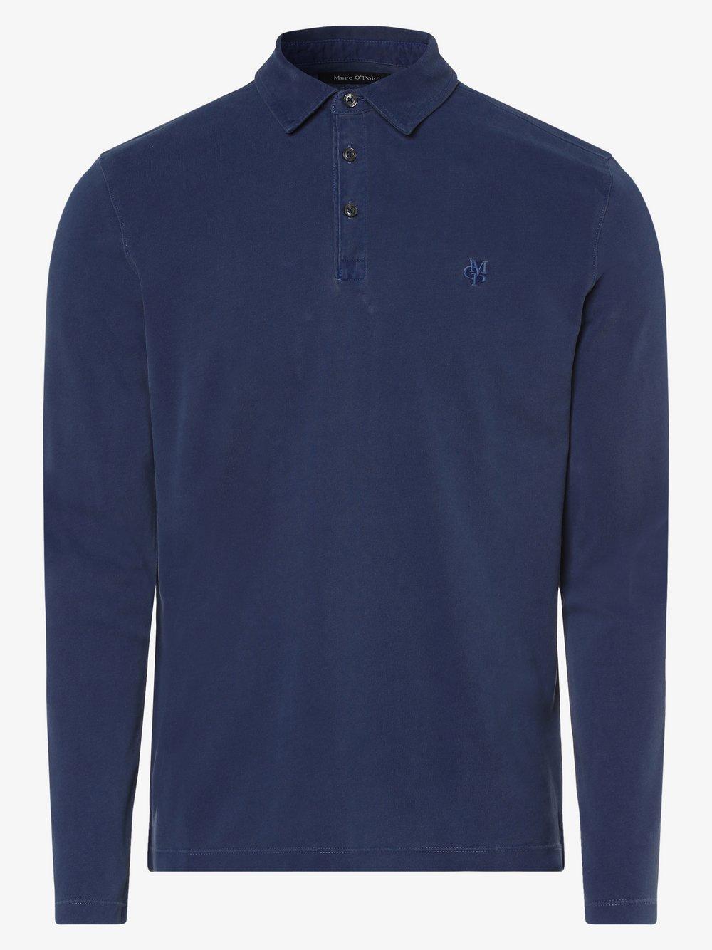 Marc O'Polo - Męska koszulka polo, niebieski