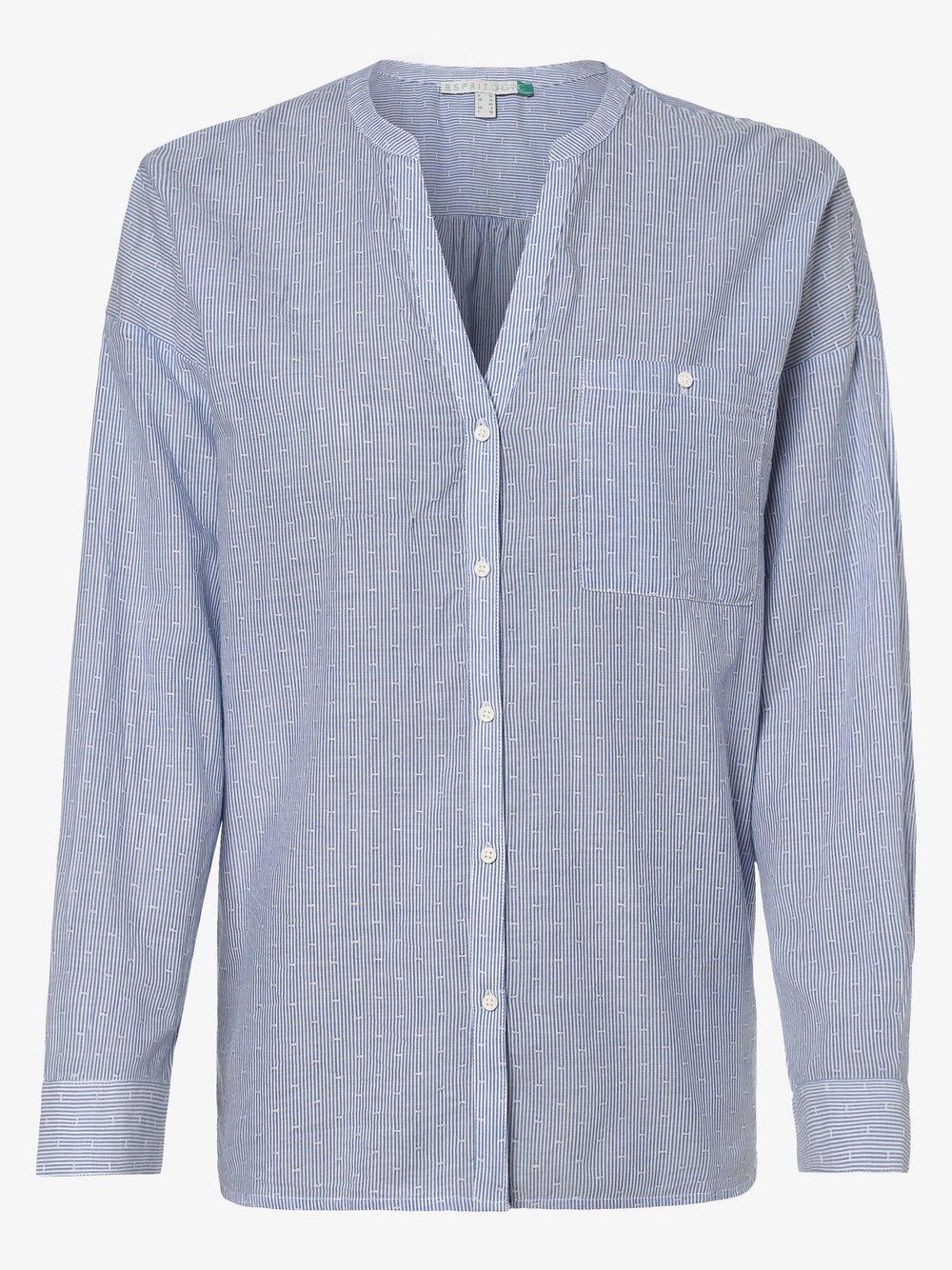 Esprit Casual – Bluzka damska, niebieski Van Graaf 453575-0001