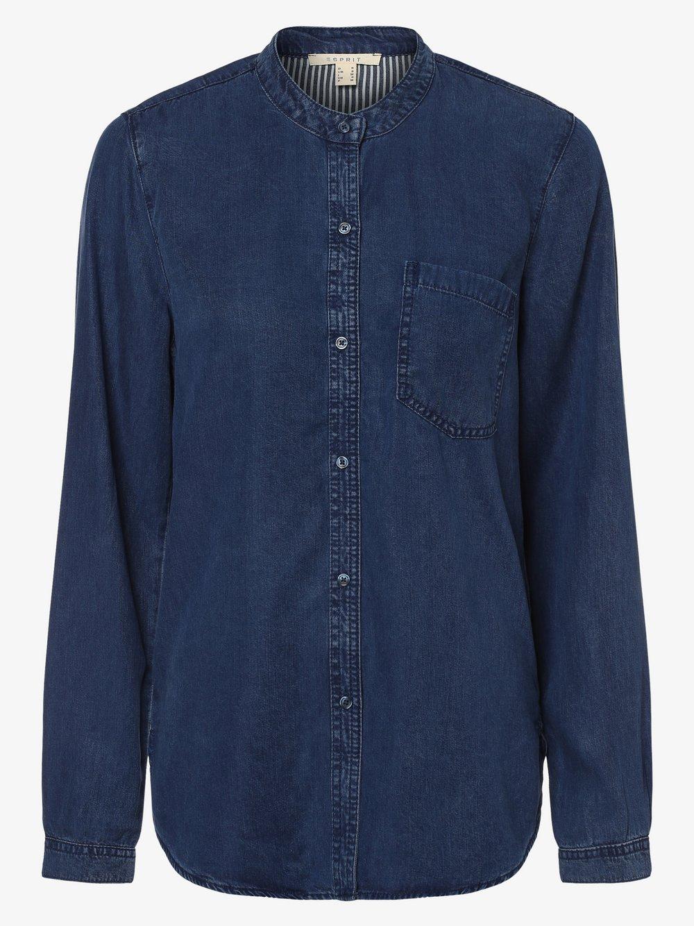 Esprit Casual – Bluzka damska, niebieski Van Graaf 453577-0001