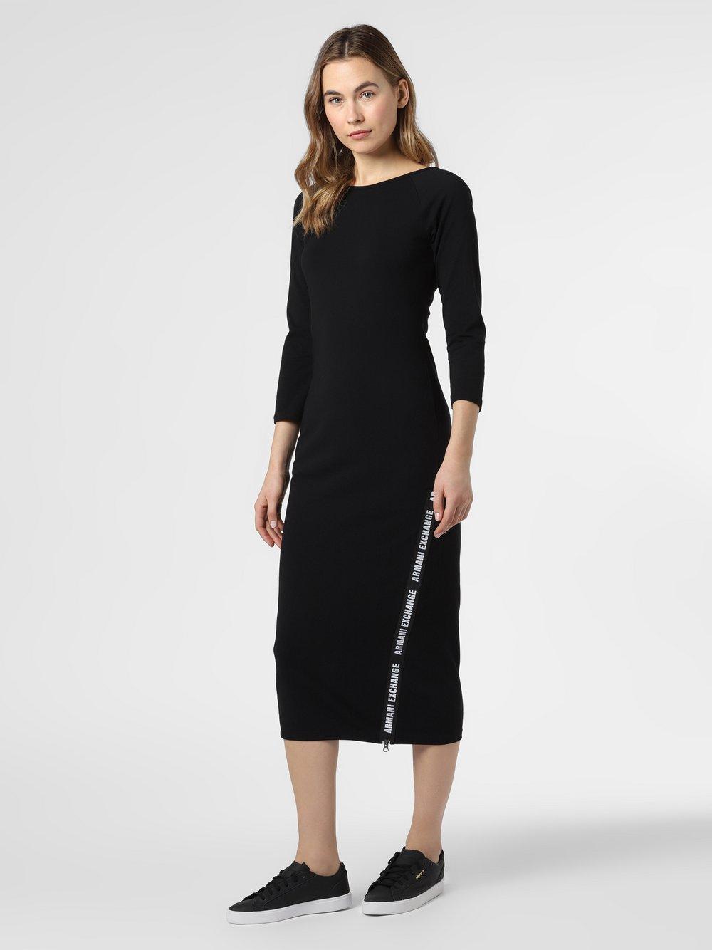 Armani Exchange - Sukienka damska, czarny