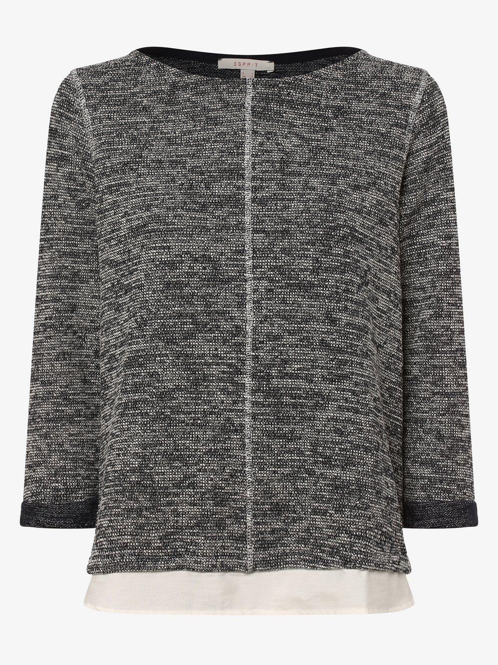 Esprit Casual – Damska bluza nierozpinana, niebieski Van Graaf 453849-0001-09970