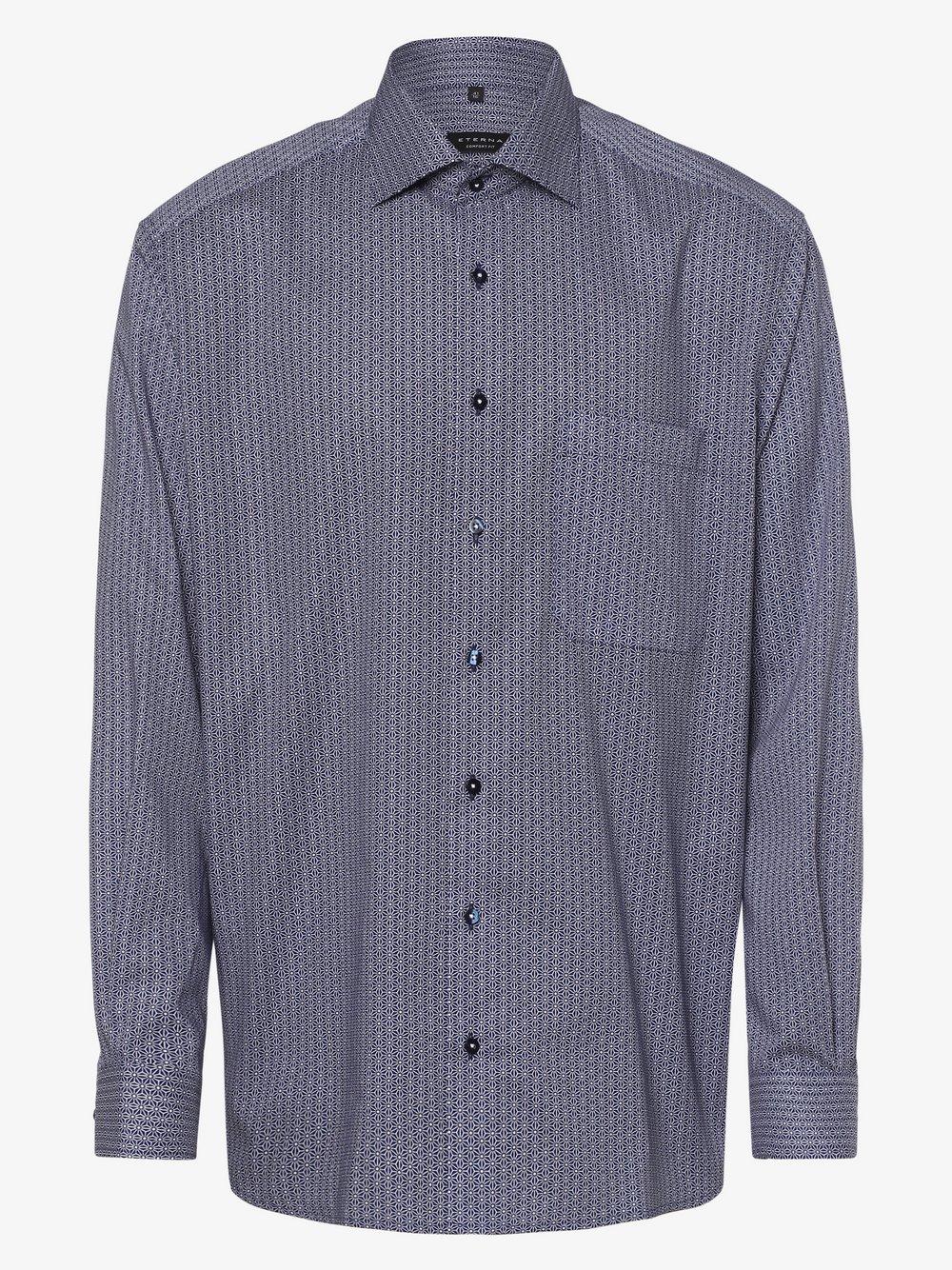 Eterna Comfort Fit - Koszula męska – niewymagająca prasowania, niebieski