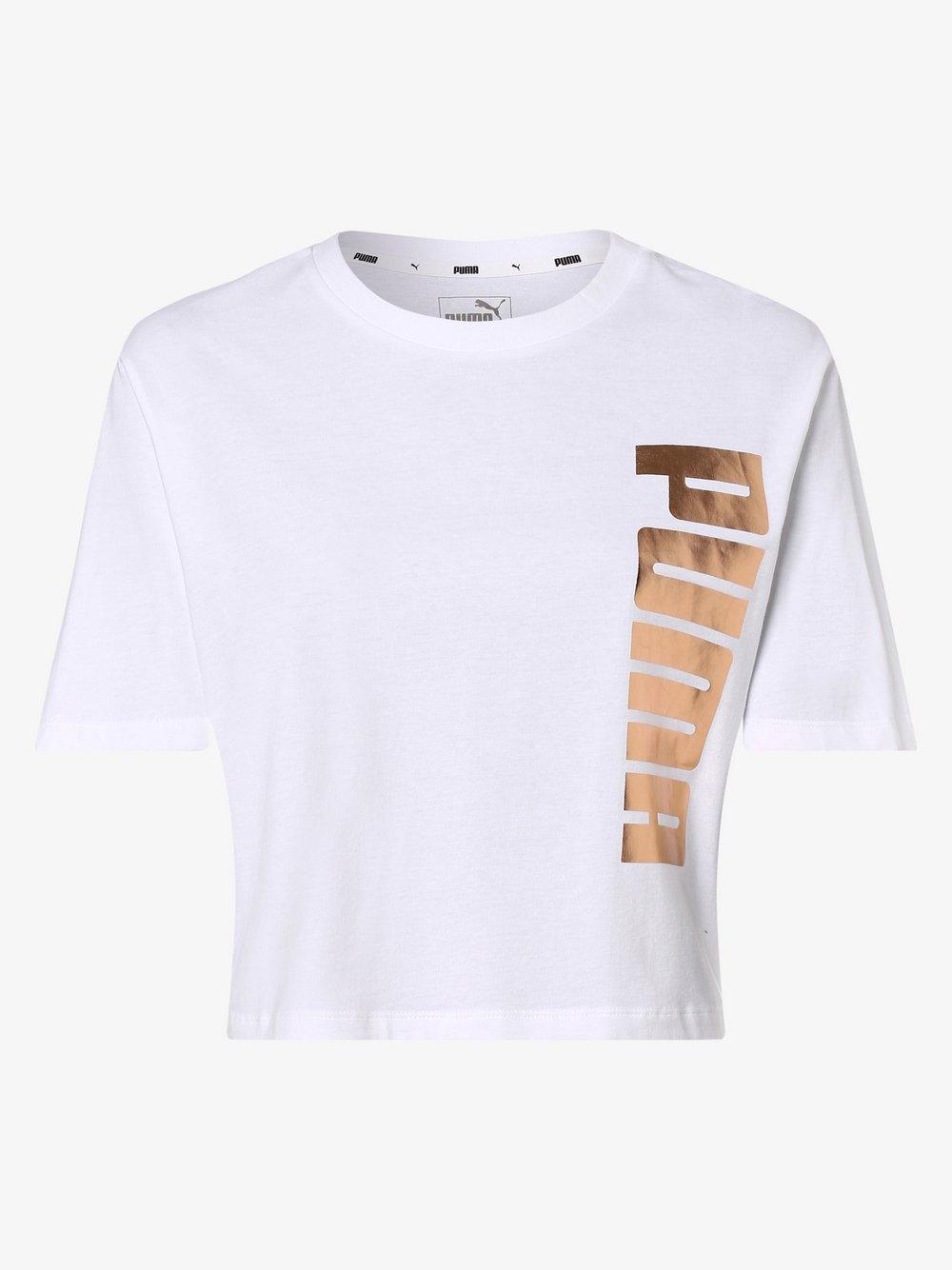 Puma - T-shirt damski, biały Puma