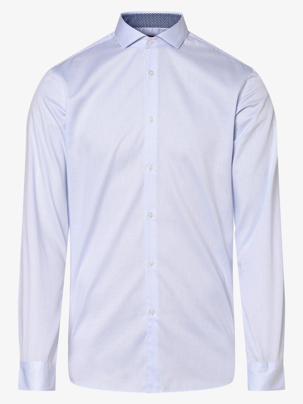 HUGO - Koszula męska łatwa w prasowaniu – Errik, niebieski