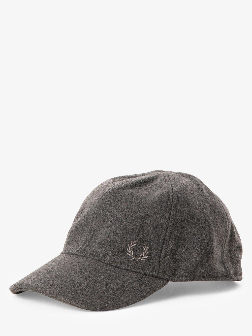 Fred Perry – Męska czapka z daszkiem, szary Van Graaf 454490-0002