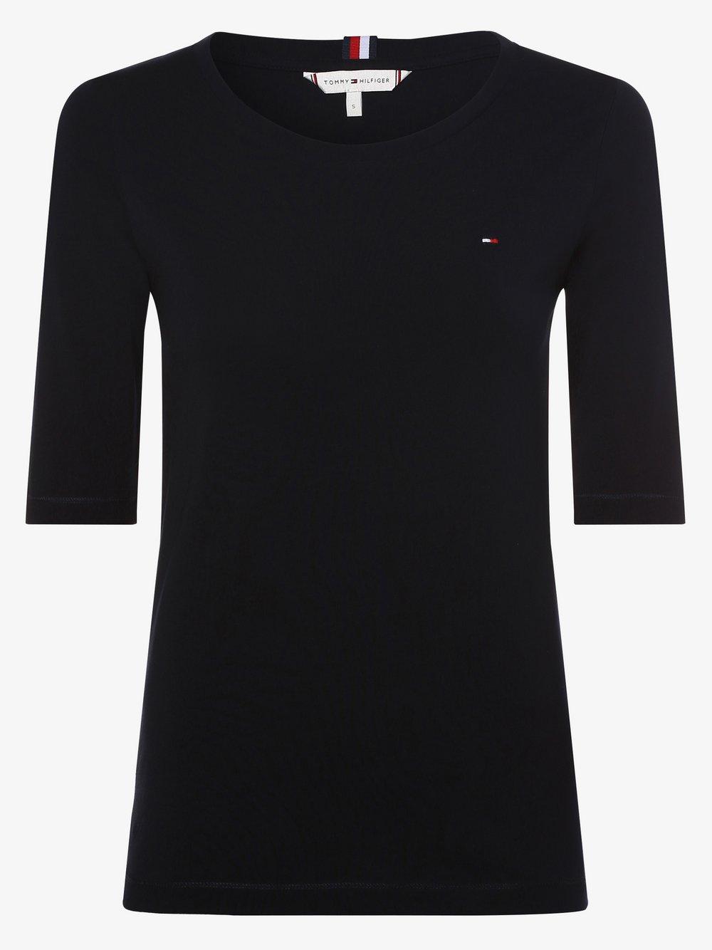 Tommy Hilfiger - T-shirt damski, niebieski Tommy Hilfiger