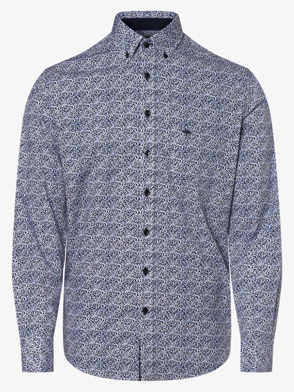 Fynch-Hatton – Koszula męska, niebieski Van Graaf 454954-0001