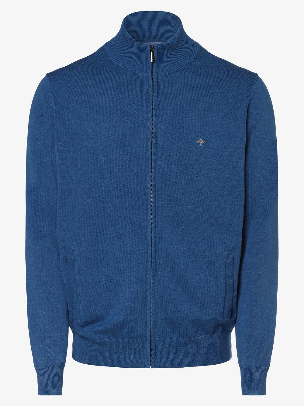 Fynch-Hatton – Kardigan męski, niebieski Van Graaf 454964-0001