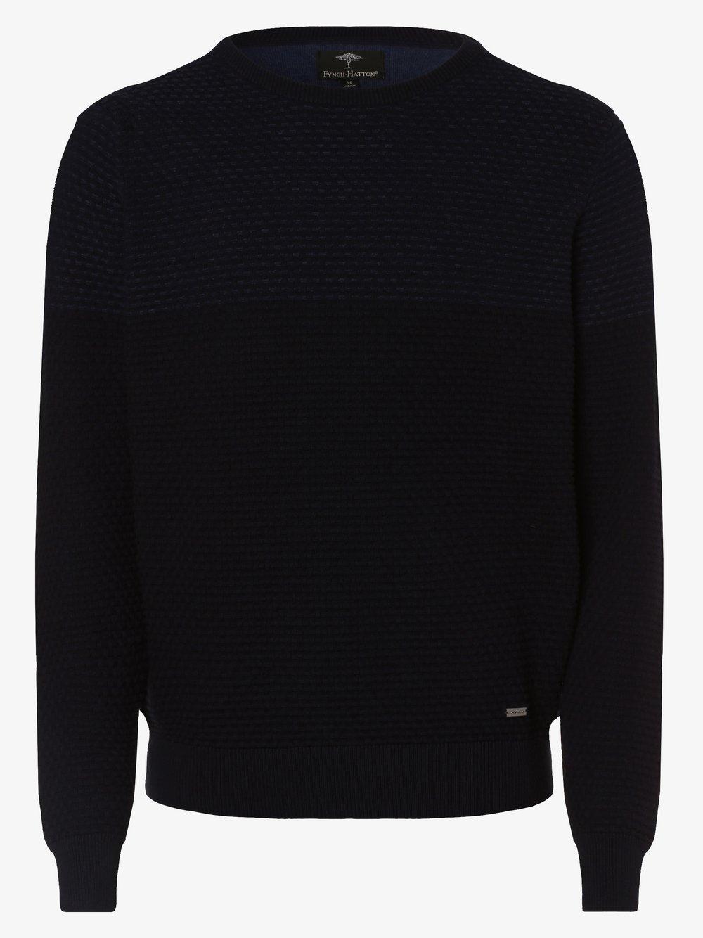 Fynch-Hatton – Sweter męski, niebieski Van Graaf 454966-0001-09970